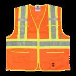 workwear – hi vis open road® zipper safety vest