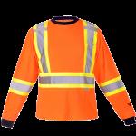 workwear – hi vis viking® safety cotton lined long sleeve shirt