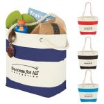 custom totes 12 oz. cotton canvas capri stripes shopper tote4