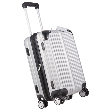 luggage metallic upright expandable luggage with tag1