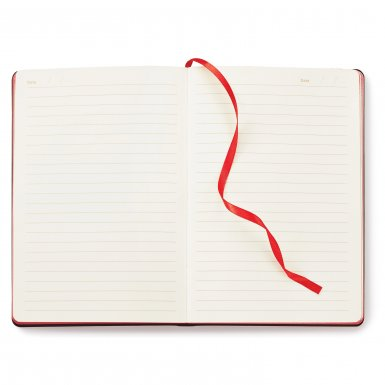 promoional product journals portfolios donald soft cover journal Donald_Red_Open