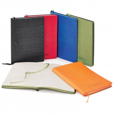 promoional product journals portfolios donald soft cover journal