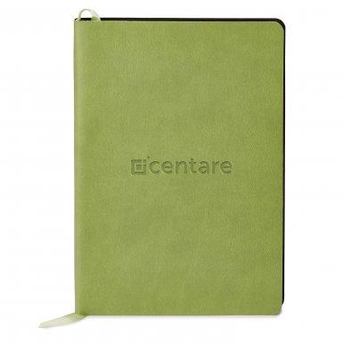 promoional product journals portfolios donald soft cover journalDonald_Green