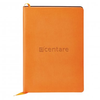 promoional product journals portfolios donald soft cover journalDonald_Orange