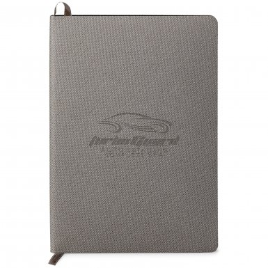 promotional products journals portfolios milana soft cover journal grey