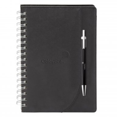 promotional products journals portfolios neoskin® journal combo black