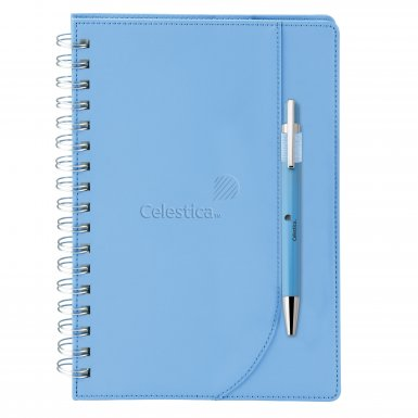 promotional products journals portfolios neoskin® journal combo blue