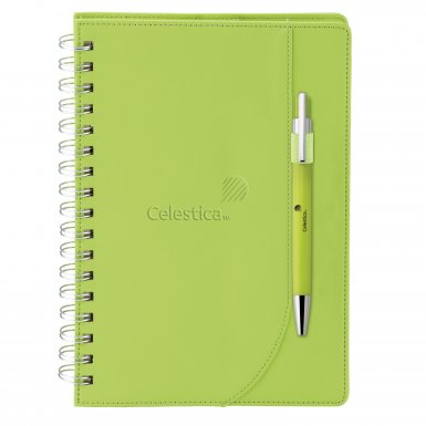 promotional products journals portfolios neoskin® journal combo green