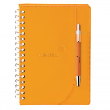 promotional products journals portfolios neoskin® journal combo orange