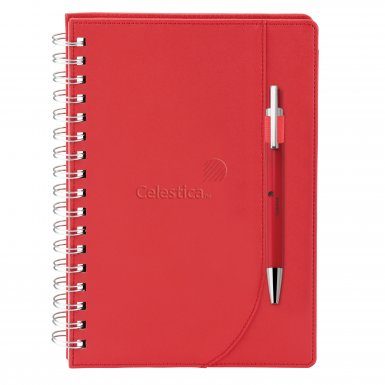 promotional products journals portfolios neoskin® journal combo red