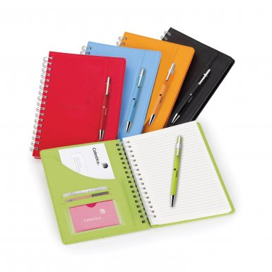 promotional products journals portfolios neoskin® journal combo
