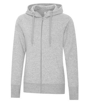 apparel hoodies cotton blend sweatshirts atc™ esactive® core full zip hooded ladies' sweatshirt athletic grey
