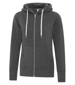 apparel hoodies cotton blend sweatshirts atc™ esactive® core full zip hooded ladies' sweatshirt charcoal heather