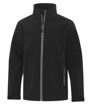 apparel jackets softshell jacket atc™ game day™ soft shell youth jacket black and coal grey