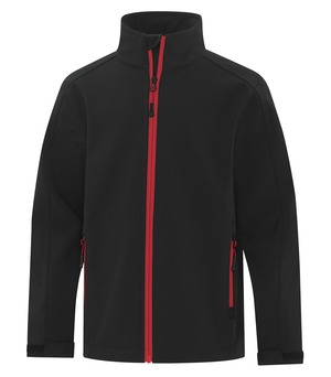 apparel jackets softshell jacket atc™ game day™ soft shell youth jacket black and true red