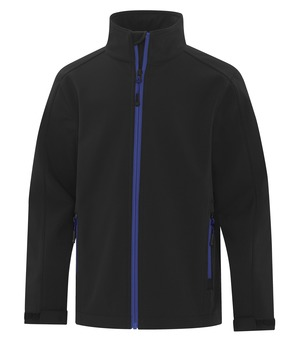 apparel jackets softshell jacket atc™ game day™ soft shell youth jacket black and true royal