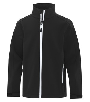 apparel jackets softshell jacket atc™ game day™ soft shell youth jacket black and white