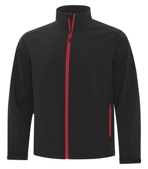 apparel jackets softshell jackets atc™ game day™ soft shell jacket black and true red