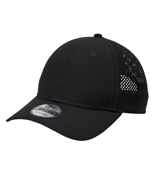 hats headwear new era® perforated performance cap black